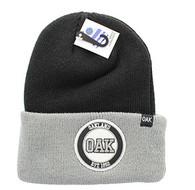 WB181 Oakland Long Beanie (Black & Grey)