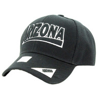 VM050 Arizona Baseball Cap Hat (Solid Black)