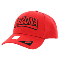 VM050 Arizona Baseball Cap Hat (Solid Red)