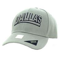 VM050 Dallas Baseball Cap Hat (Solid Grey)