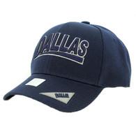 VM050 Dallas Baseball Cap Hat (Solid Navy)