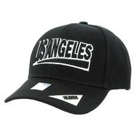 VM050 Los Angeles Baseball Cap Hat (Solid Black)