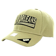 VM050 New Orleans Baseball Cap Hat (Solid Khaki)