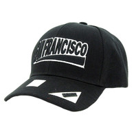 VM050 San Francisco Baseball Cap Hat (Solid Black)