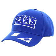 VM050 Texas Baseball Cap Hat (Solid Royal)
