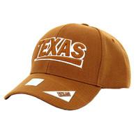 VM050 Texas Baseball Cap Hat (Solid Texas Orange)
