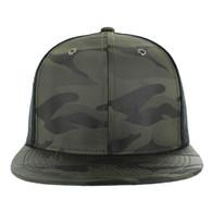 SP100 Plain Blank Snapback Cap (Solid Olive)
