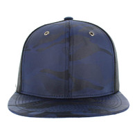 SP100 Plain Blank Snapback Cap (Solid Navy)