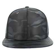 SP100 Plain Blank Snapback Cap (Solid Dark Grey)