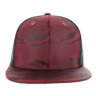SP100 Plain Blank Snapback Cap (Solid Red)