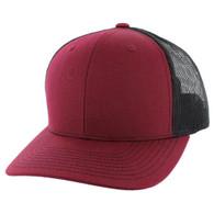 K815 Blank Cotton Classic Mesh Trucker Cap (Burgundy & Black)