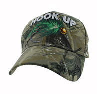 VM487 Hook Up Fishing Velcro Cap (Solid Hunting Camo)