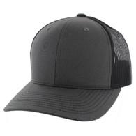 K815 Blank Cotton Classic Mesh Trucker Cap (Charcoal & Black)