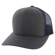 SP815 Blank Cotton Classic Mesh Trucker Cap (Dark Grey & Navy)