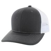SP815 Blank Cotton Classic Mesh Trucker Cap (Dark Grey & White)