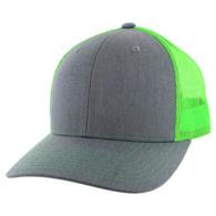 K815 Blank Cotton Classic Mesh Trucker Cap (Heather Grey & Neon Green)