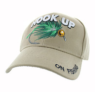 VM487 Hook Up Fishing Velcro Cap (Solid Khaki)