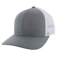 K815 Blank Cotton Classic Mesh Trucker Cap (Heather Grey & White)