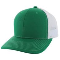 SP815 Blank Cotton Classic Mesh Trucker Cap (Kelly Green & White)