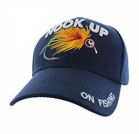 VM487 Hook Up Fishing Velcro Cap (Solid Navy)