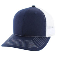 SP815 Blank Cotton Classic Mesh Trucker Cap (Navy & White)