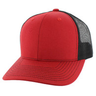 SP815 Blank Cotton Classic Mesh Trucker Cap (Red & Black)