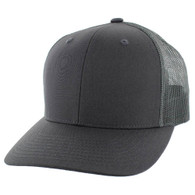 K815 Blank Cotton Classic Mesh Trucker Cap (Solid Charcoal)
