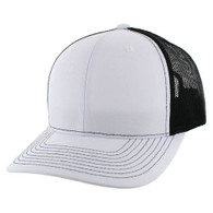 SP815 Blank Cotton Classic Mesh Trucker Cap (White & Black)