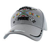 VM485 Native Pride Arrow Velcro Cap (Solid Light Grey)