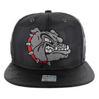 SM558 Bulldog Snapback Cap (Solid Black Military Camo)