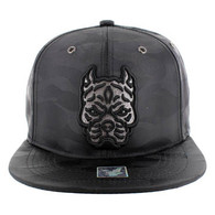 SM569 Pitbull Snapback Cap (Solid Black Military Camo)