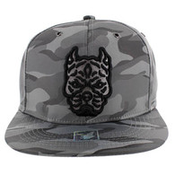 SM569 Pitbull Snapback Cap (Solid Grey Military Camo)