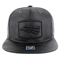 SM617 Mexico Snapback Cap (Solid Black Military Camo)