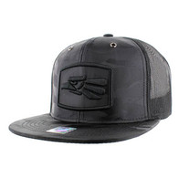SM617 Mexico Mesh Trucker Snapback Cap (Solid Black Military Camo)