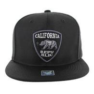 SM1003 Cali Bear Snapback (Black & Black)