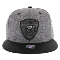SM1003 Cali Bear Snapback (Charcoal & Black)