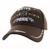 VM485 Native Pride Arrow Velcro Cap (Solid Brown)