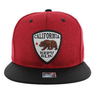 SM1003 Cali Bear Snapback (Red & Black)