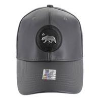 VM790 California Bear PU Baseball Cap (Solid Grey)