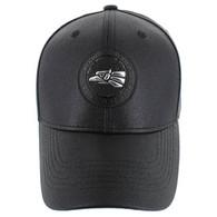 VM790 Hecho En Mexico PU Baseball Cap (Solid Black)