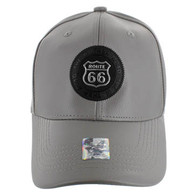 VM790 Route 66 PU Baseball Cap (Solid Grey)