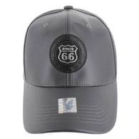 VM790 Route 66 PU Baseball Cap (Solid Charcoal)
