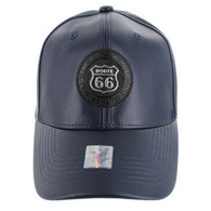 VM790 Route 66 PU Baseball Cap (Solid Navy)