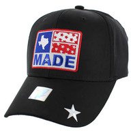 VM007 Texas Baseball Cap Hat (Solid Black)
