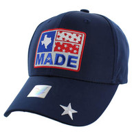 VM007 Texas Baseball Cap Hat (Solid Navy)