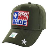 VM007 Texas Baseball Cap Hat (Solid Olive)