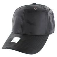 VP100 Blank Velcro Cap (Solid Black Military Camo)