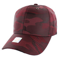 VP100 Blank Velcro Cap (Solid Burgundy Military Camo)