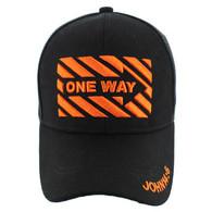 VM124 Jesus One Way Velcro Cap (Solid Black)