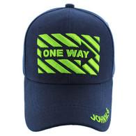 VM124 Jesus One Way Velcro Cap (Solid Navy)